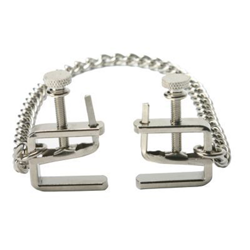 Adjustable C-Clamps With Chain - Silver