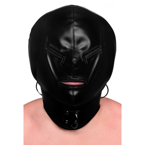 Bondage Mask With Zipper
