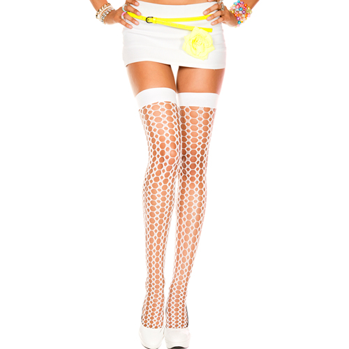 Crochet thigh hi WHITE