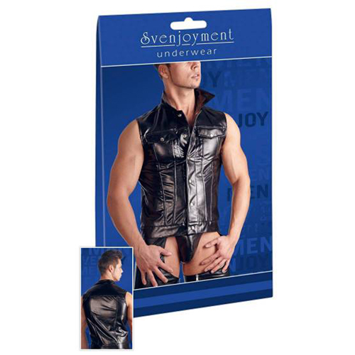 Faux Leather Men's Vest