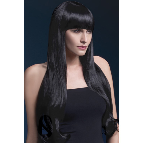 Fever Bella Wig 28inch/71cm Black Natural Wave with Fringe