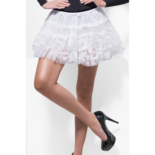 Fever Deluxe Lace Petticoat White