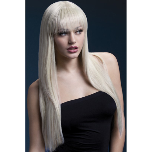 Fever Jessica Wig 26inch/66cm Blonde Long Straight with Fringe