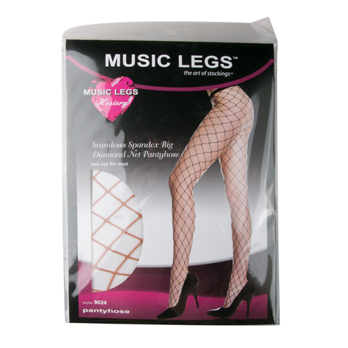 Fishnet Tights With Diamonds - White