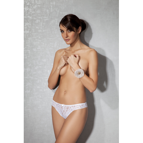 Lace Ladies Thong - White
