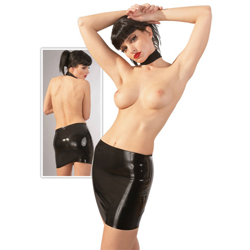 Latex Mini Skirt black