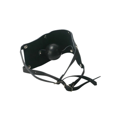 Leather Mouth Gag with Rubber Ball