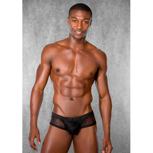 Men shorts of lace - black