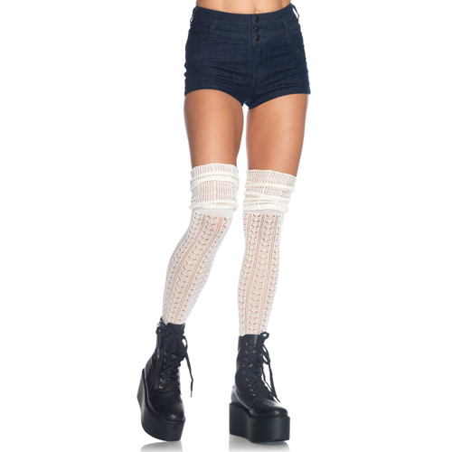 Over The Knee Scrunch Sock Ivory