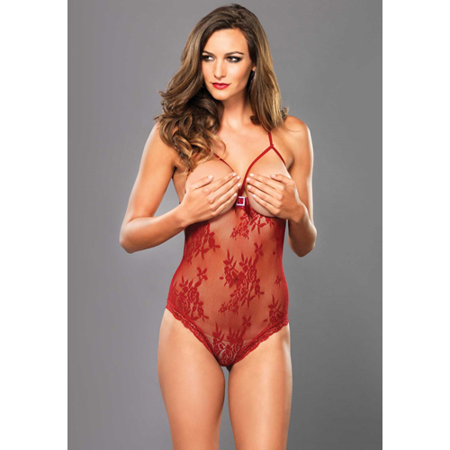 Stretch Lace Open Cup Teddy