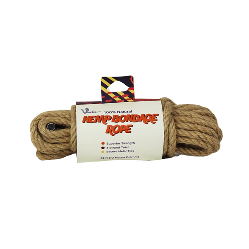 100% Natural Hemp Bondage Rope - 10 Meter