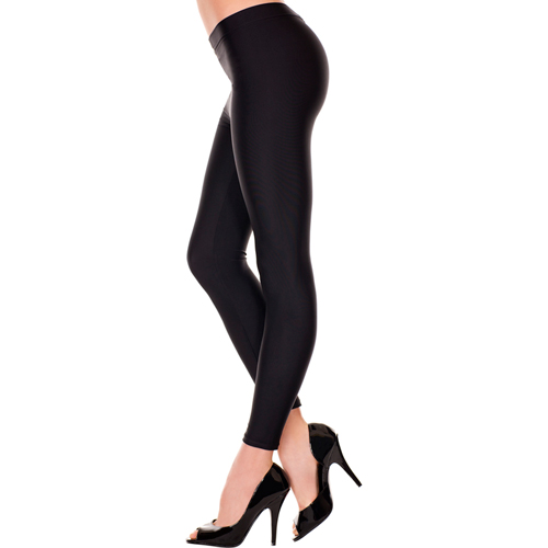 Basic Long Leggings - Black