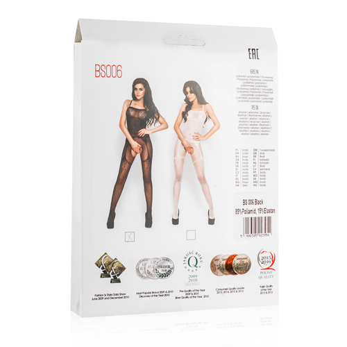 Black Mesh Bodystockings With Suspender Design3