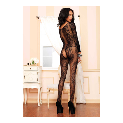 Black Seamless Long Sleeved Bodystocking2