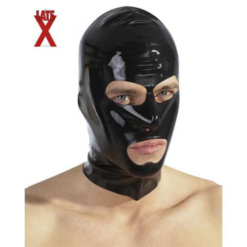 Black latex hood