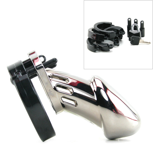 CB-6000 Chastity Cage - Chrome - 35 mm2