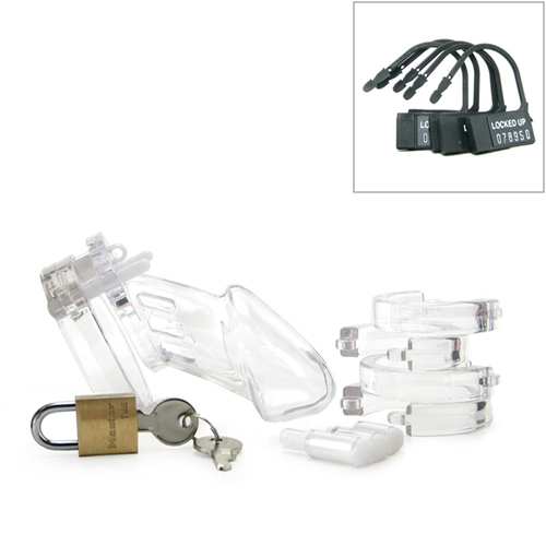 CB-6000 Chastity Cage - Clear - 37 mm4