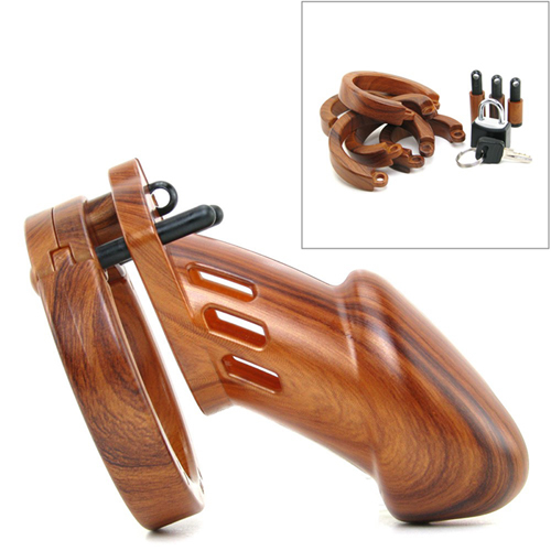 CB-6000 Chastity Cage - Wood - 35 mm2