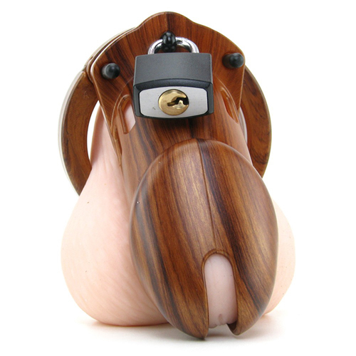 CB-6000 Chastity Cage - Wood - 35 mm5