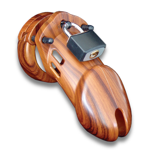 CB-6000 Chastity Cage - Wood - 35 mm