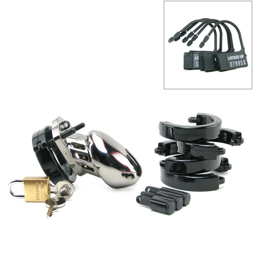 CB-6000S Chastity Cage - Chrome - 35 mm4