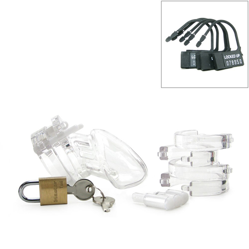 CB-6000S Chastity Cage - Clear - 37 mm4
