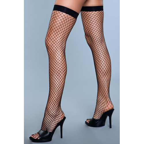 Catch Me If You Can Fishnet Stockings - Black
