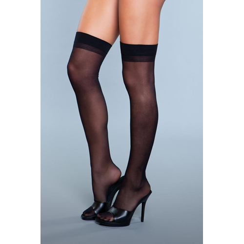 Favorite Day Backseam Stockings - Black