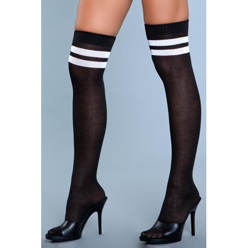 Going Pro Thigh High Stockings - Black