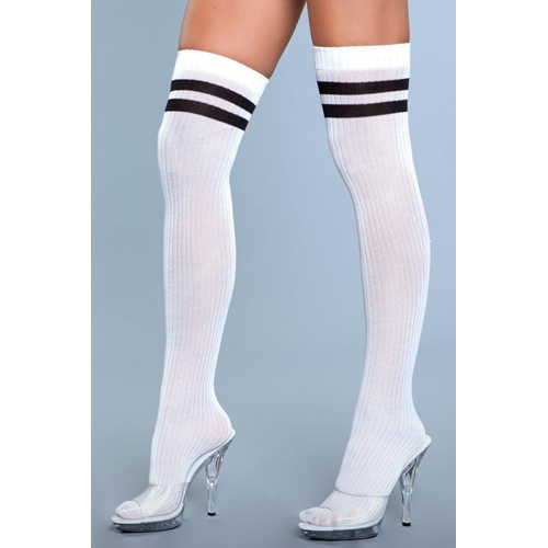 Going Pro Thigh High Stockings - White