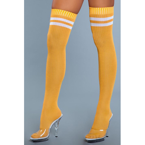 Going Pro Thigh High Stockings - Yellow