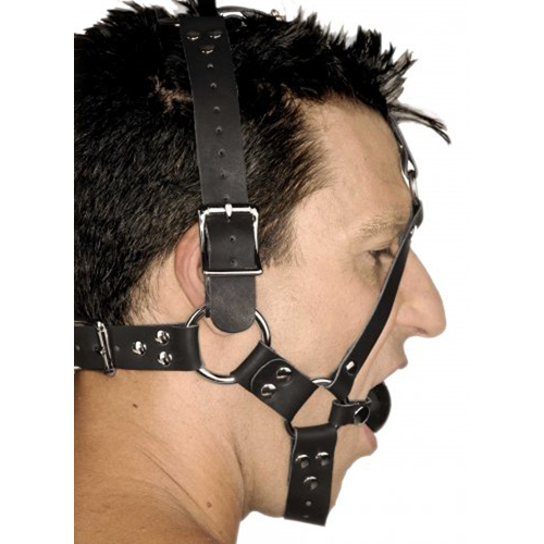 Leather Ball Gag Harness3