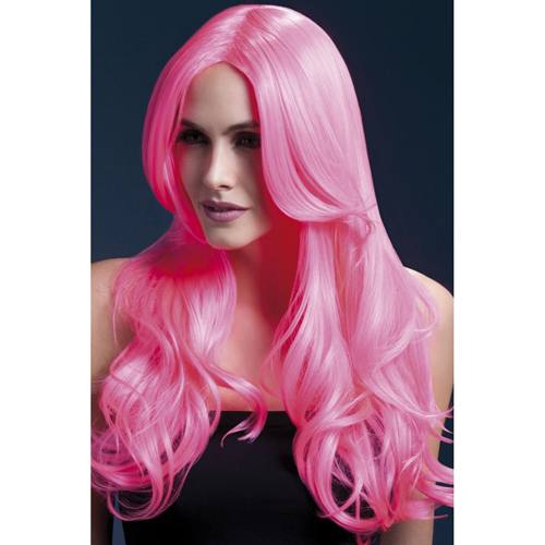 Long Curled Wig - Pink