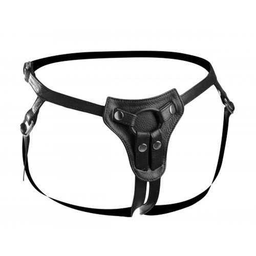 Premium All Access Leather Strap On Harness