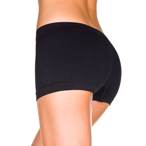 Seamless Boy Shorts - Black