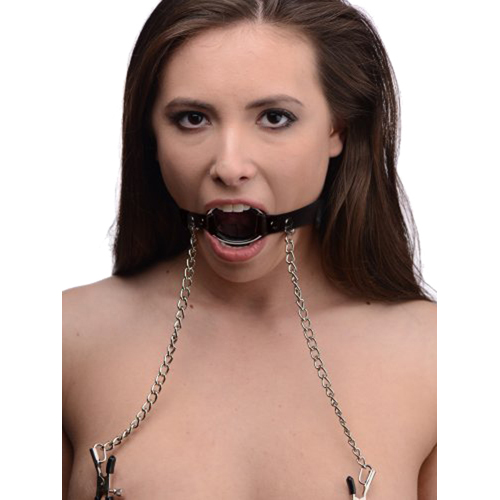 Seize O-Ring Gag with Nipple Clamps3