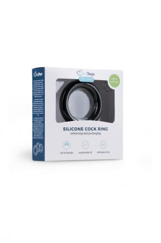 Silicone Cock Ring Black medium2