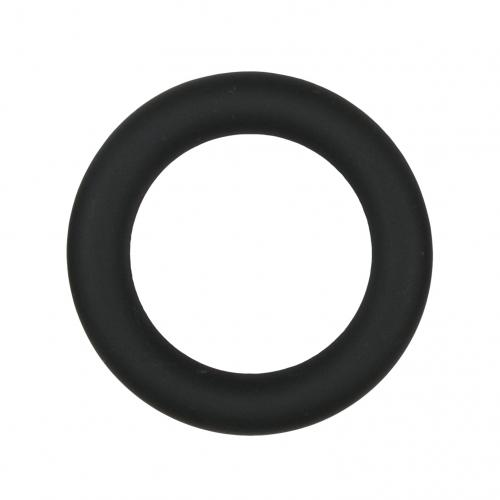 Silicone Cock Ring Black medium