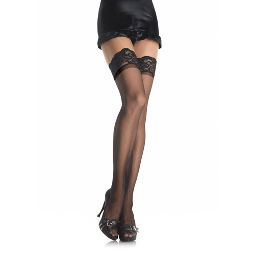 Stay Up Sheer Thigh Highs - Black