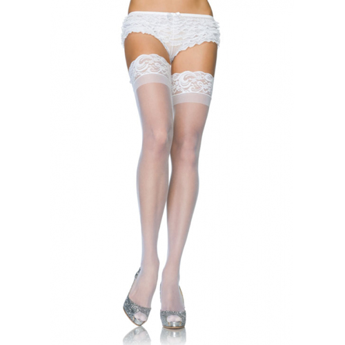 Stay Up Sheer Thigh Highs - White