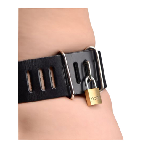 Strict Leather Female Chastity Belt3