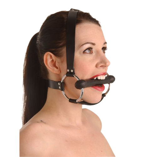 Strict Leather Locking Silicone Trainer Gag2