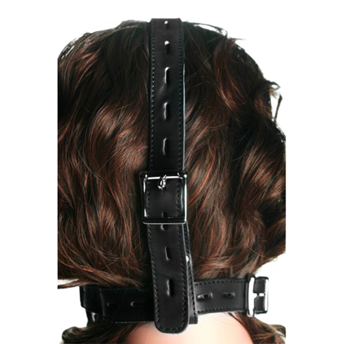 Strict Leather Locking Silicone Trainer Gag3