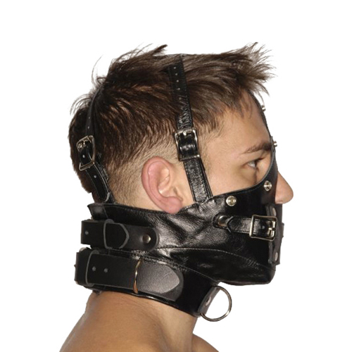 Strict Leather Premium Muzzle with Blindfold and Gags3