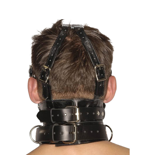 Strict Leather Premium Muzzle with Blindfold and Gags4