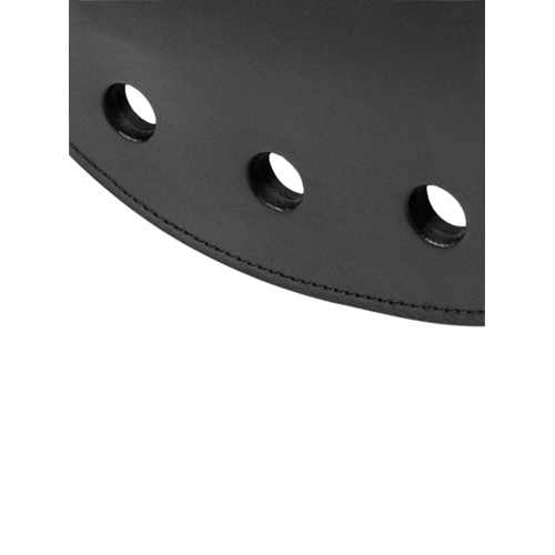 Strict Leather Rounded Paddle with Holes2
