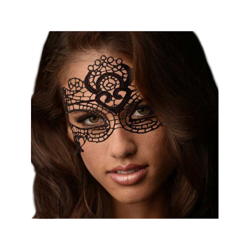 The Enchanted Black Lace Mask