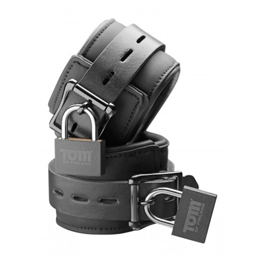 Tom of Finland Neoprene Wrist cuffs w/ locks