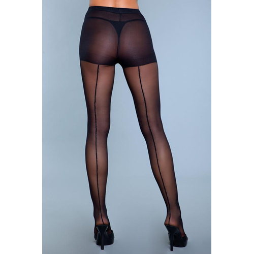 Walk Right Out Pantyhose With Backseam - Black