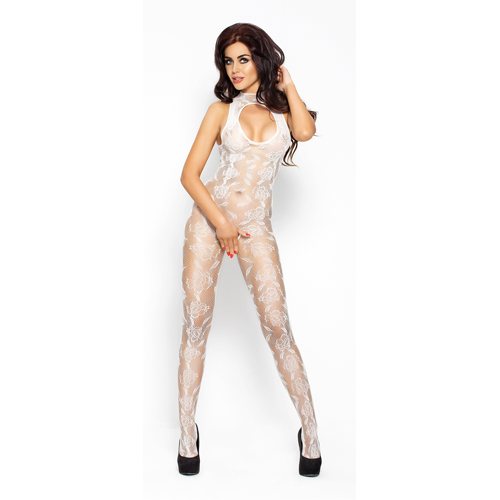 White Catsuit - Floral Design